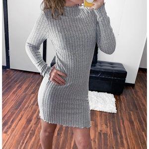 """Cozy On Up"" Soft Plush Sweater Dress"